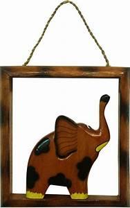 Petit Cadre Deco : cadre d co l phant en bois fonc petit ~ Teatrodelosmanantiales.com Idées de Décoration