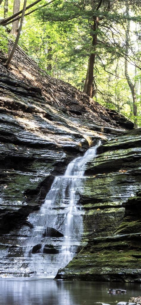 scenery natural waterfall wallpapersc iphonexs