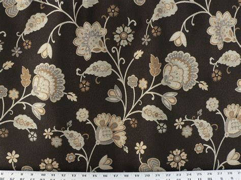 Drapery Upholstery Fabric Damask Reversible Jacobean Floral Bronze And Black Lime Green Sheer Curtain Panels Creative Shower Ideas City Scape Yellow Zig Zag Curtains Tiffany Red And Chocolate Orange Blue By Length