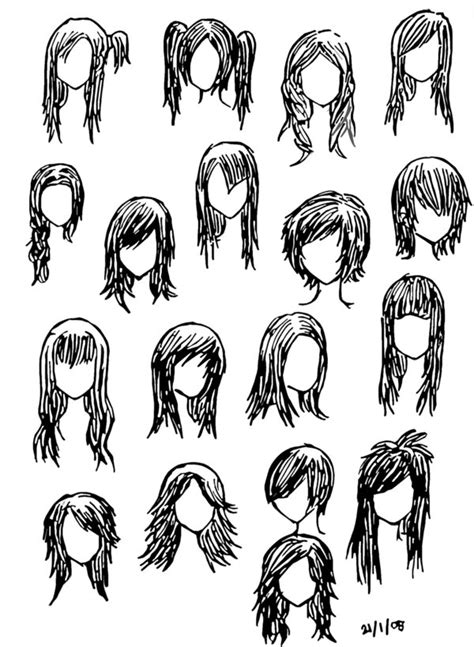 anime hairstyle  girlsat