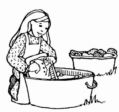 Laundry Clipart Pioneer Woman Washing Clothes Clip