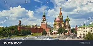Panoramic View On Moscow Red Square Stock Photo 557487142 ...
