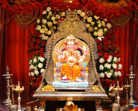 ganpati decoration ideas  home  royale