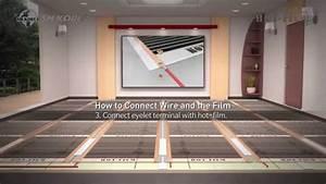 Fußbodenheizung Elektrisch Laminat : verlegen der heizfolie unter dem laminat infrarot fu bodenheizung youtube ~ Yasmunasinghe.com Haus und Dekorationen