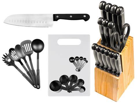 stainless steel kitchen knives set 29 pc stainless steel kitchen knives or knife set w block kitchen utensils ebay