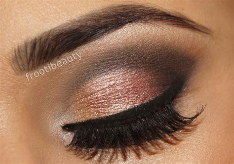 smokey eyeshadow brown eyes wedding makeup  smokey