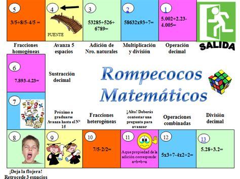 Guardarguardar juego matematico 3.pdf para más tarde. Juegos :: ROMPECOCO MATEMÁTICOS