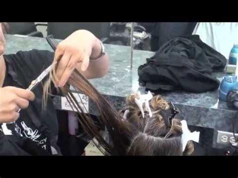 haircut long layers elevation texturizing youtube