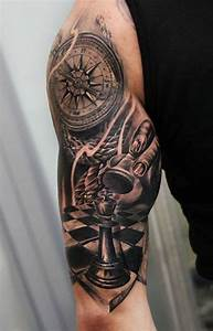 Kompass Tattoo Mann : tattoo schachfigur kompass arm tattoos pinterest schachfiguren kompass und tattoo ideen ~ Frokenaadalensverden.com Haus und Dekorationen