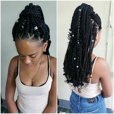 beautiful medium box braids tuuraa blackgirls braids and hairdo coiffure coiffure tresse