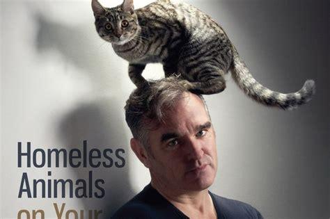morrissey  cat   head  peta charity campaign