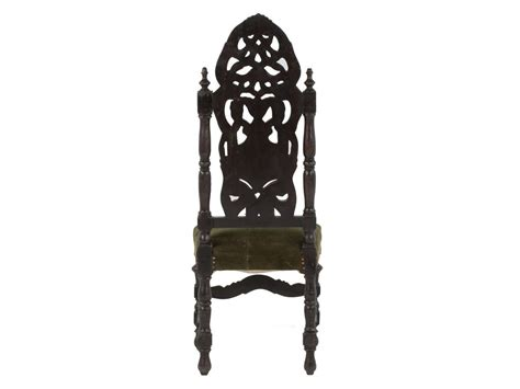 wooden high back chair at 1stdibs