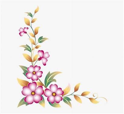 Border Flower Corner Clipart Flowers Clip Borders