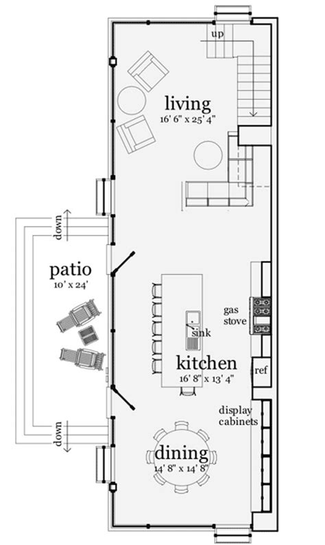 simple modern house plans narrow lot ideas narrow modern loft like living 44082td 2nd floor