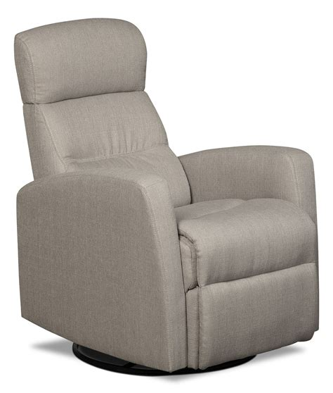 recliner rocker chair linen look fabric swivel rocker reclining chair