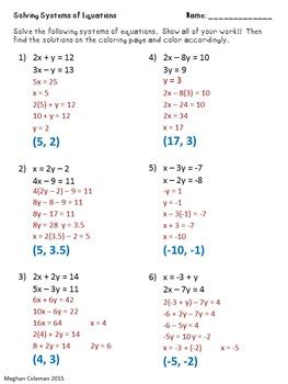 zombie color  number solving systems  equations  dr