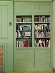 Farmhouse Built in Bookshelves