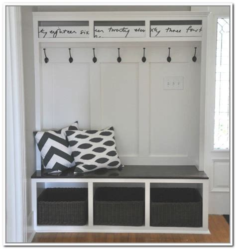storage bench  coat rack ikea home diy updating