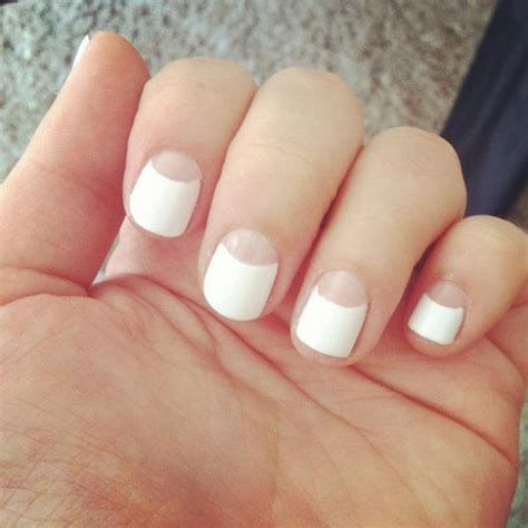 shellac french manicure nails oxford short fav