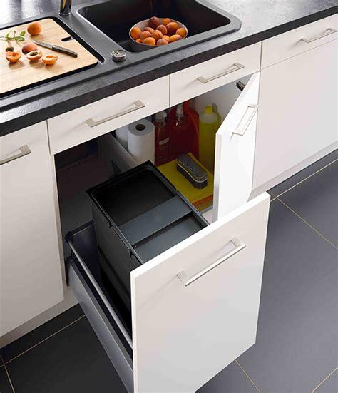 poubelle tiroir cuisine meuble de cuisine 5 meubles poubelles pratiques et