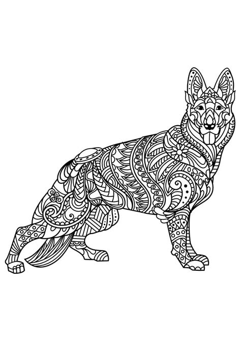 dog coloring pages  adults  coloring pages  kids