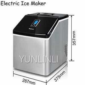 25kg  24h Electric Ice Maker Commercial  U0026 Household Stainless Steel Manual Adding Water Ice Cube