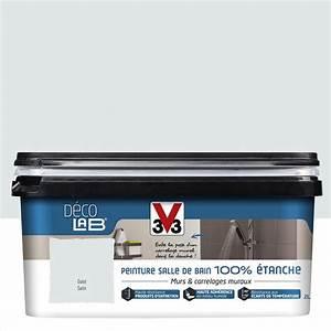 Panneau étanche Salle De Bain : peinture d colab 100 tanche v33 gris galet 2 l leroy ~ Premium-room.com Idées de Décoration