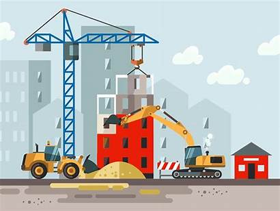 Construction Site Safety Dribbble Industry Scene Covid