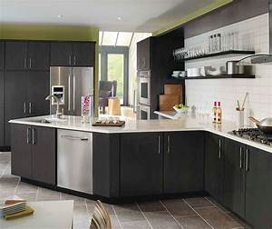 dark gray kitchen cabinets kemper cabinetry With kitchen cabinet trends 2018 combined with eye black stickers