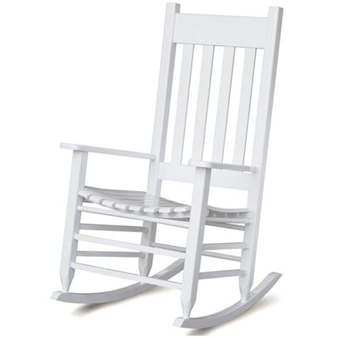 plantation rocking chair slat back seat white paint dcg stores