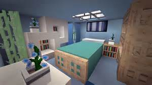 minecraft modern cool blue bedroom design youtube