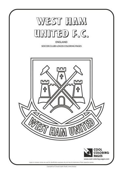 cool coloring pages west ham united fc logo coloring page cool coloring pages