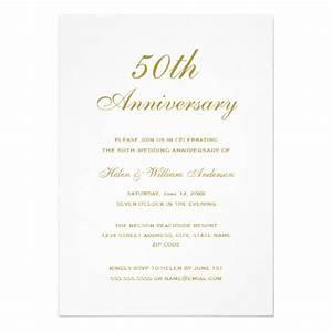 elegant gold 50th wedding anniversary invitations zazzle With 50 wedding anniversary invitations