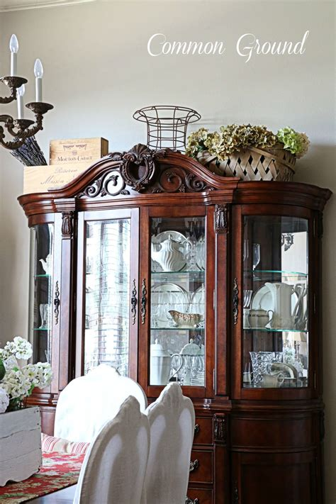 China Hutch Ideas by Common Ground Ideas On Styling A Cabinet Or Cupboard Top