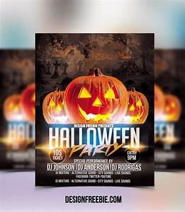 20 free psd halloween flyer templates free psd templates for Halloween psd