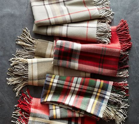 pottery barn throw harrison plaid throw pottery barn