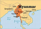 Myanmar location in world map - Location of Myanmar in ...