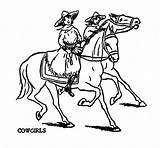 Cowgirl Coloring Pages Cowgirls Cowboys Golf Request Bear Thursday Clip Western Cliparts Graphics Printable Getcolorings Print Leave Wish Were sketch template