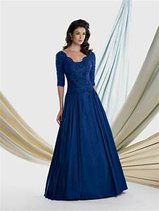Navy blue wedding dresses with sleeves naf dresses for Navy blue dress for wedding