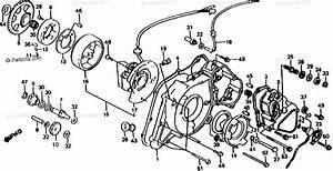 Honda Atv 1985 Oem Parts Diagram For Left Crankcase Cover    Alternator    Sub