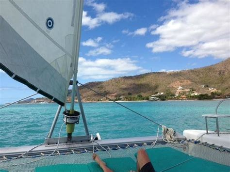 Antigua Catamaran Day Trips by View From The Front Of The Catamaran Picture Of
