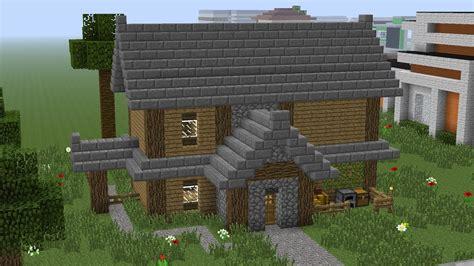 minecraft house tutorial  average sized wooden house youtube