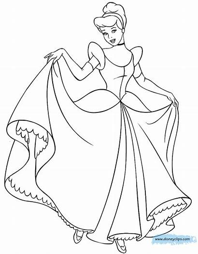 Cinderella Coloring Pages Disney Colouring Gus Template