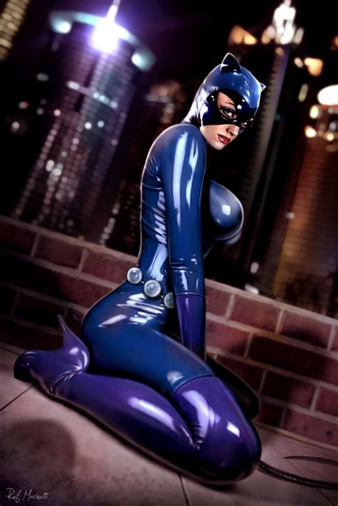 Purple Latex Catwoman Cosplay Pinterest Catwoman