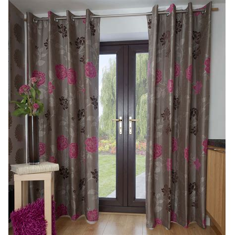 Black And Grey Curtains by Floral Bedroom Curtains Pink Black And Grey Shower