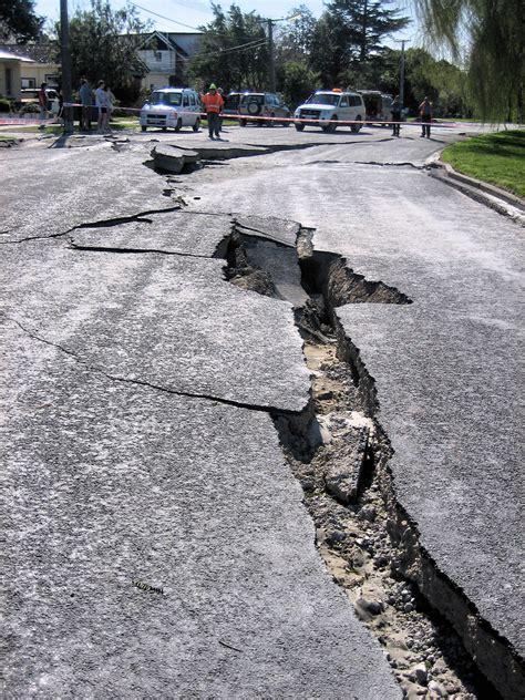 earthquake damage road aftermath  september