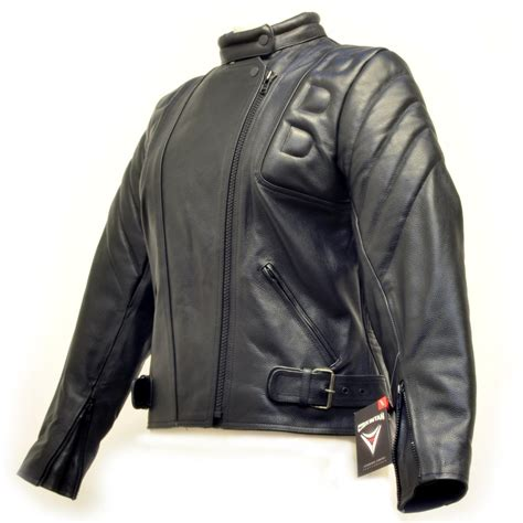 padded leather motorcycle jacket skintan ladies leather ce armoured padded motorbike