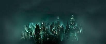 Underwater Bioshock Cityscape Backgrounds Wallpapers Desktop Wallup