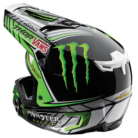 monster helmet motocross thor 2015 mx gear verge pro circuit monster motocross bike