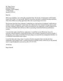 resignation letter sles resume help